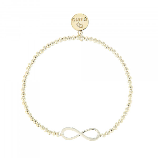 Kleine Perlenarmband Mit Unendlich-Zeichen In Gold