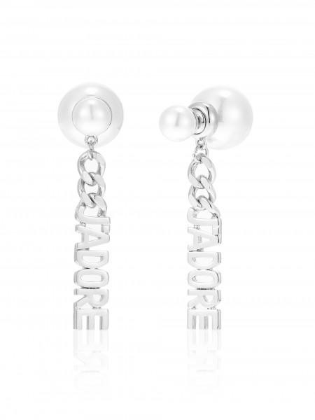 Hängeohrring Mit Perlen