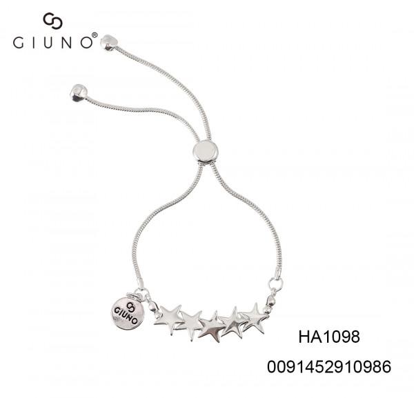 Schlaufenarmband Metallstern Silber