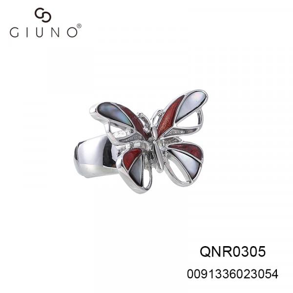 Metallring Elastisch Mit Schmetterling