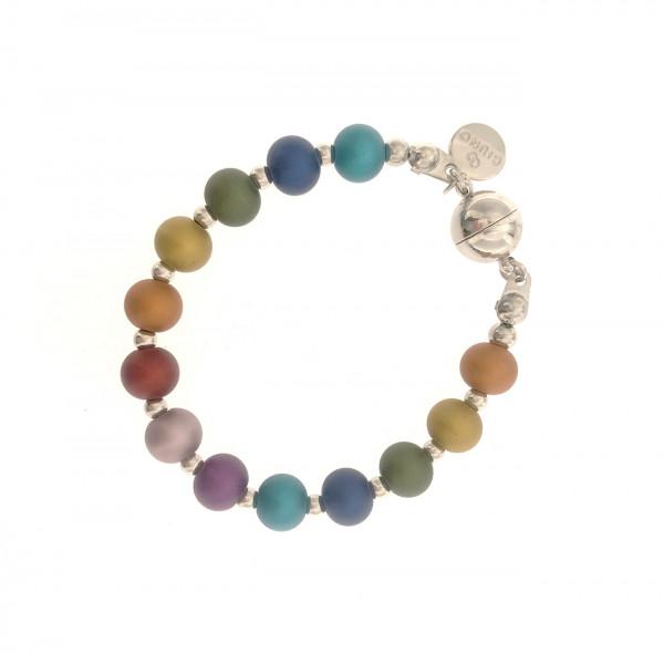 Metallperlen Armband In Regenbogen Farbe