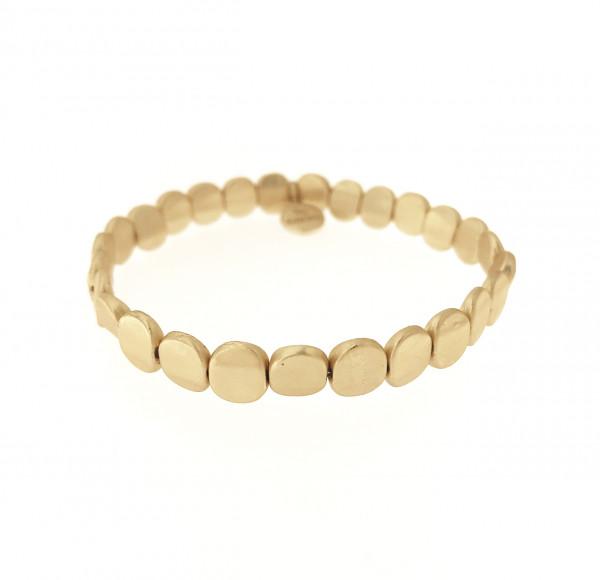 Armband Aus Metallplätchen Gold Matt