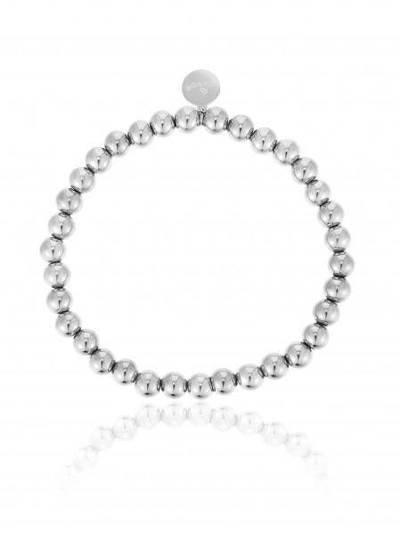 Perlenarmband (5Mm) Aus Edelstahl