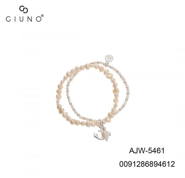 Doppelte Perlen Armband In Weiss Mit Ankel