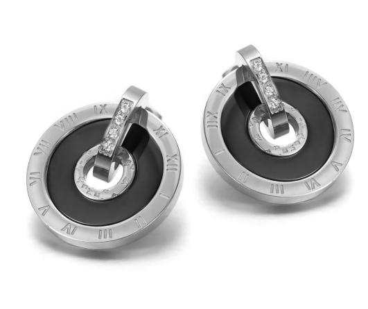 Hängeohrring Aus Edelstahl Mit Römischen Zahlen In Silber
