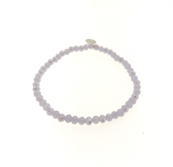 Armband Aus Glasperlen In H.Lila