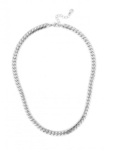 Edelstahlkette In Römischem Style In Silber
