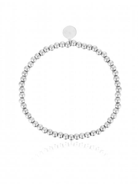 Perlenarmband (3Mm) Aus Edelstahl