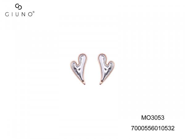 Ohrringe In Herzform Aussen Rosé, Innen Silber