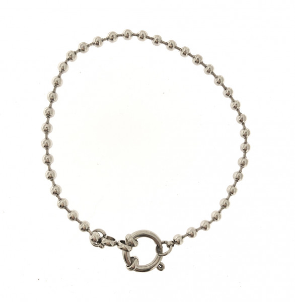 Perlenarmband Aus Edelstahl In Silber