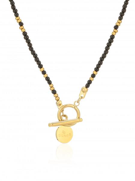 Perlenkette Edelstahl Schwarz