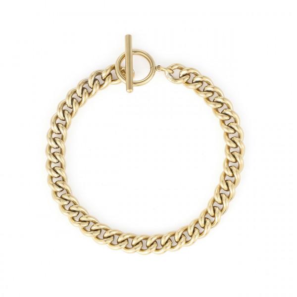 Armband Mit Engem Glieder Aus Edelstahl In Gold