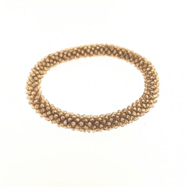 Fein Geflochtete Kristall Armband In Gelbtöne