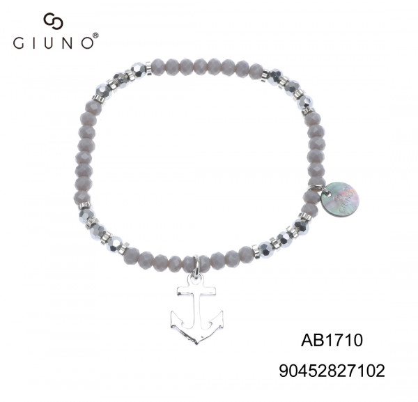Kristallarmband Silber Mit Ankeranhänger Silber