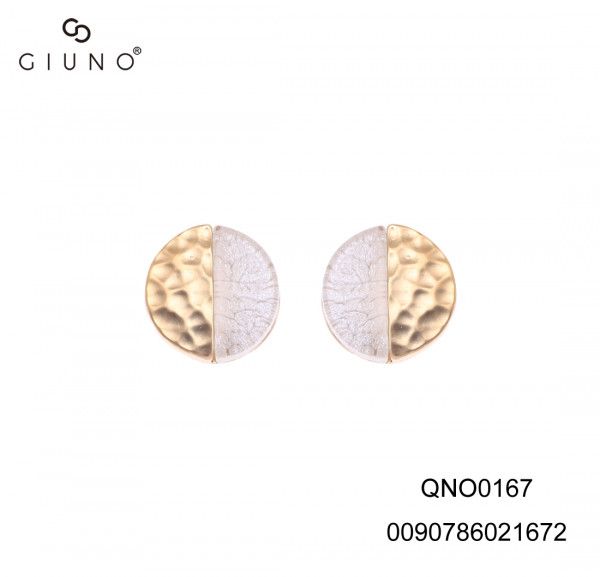 Ohrringe gold Legierung halb/halb gold/glas