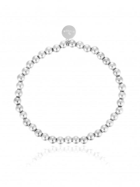 Perlenarmband (4MM) Aus Edelstahl