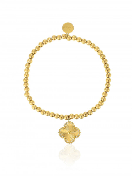 Perlenarmband Edelstahl Mit Blumen