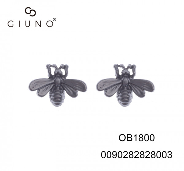 Ohrstecker Biene Dunkelgrau