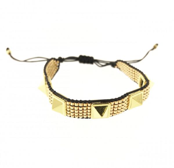 Stoffarmband In Gold