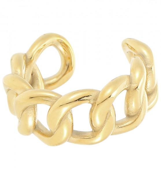 Offener Edelstahlring Gold