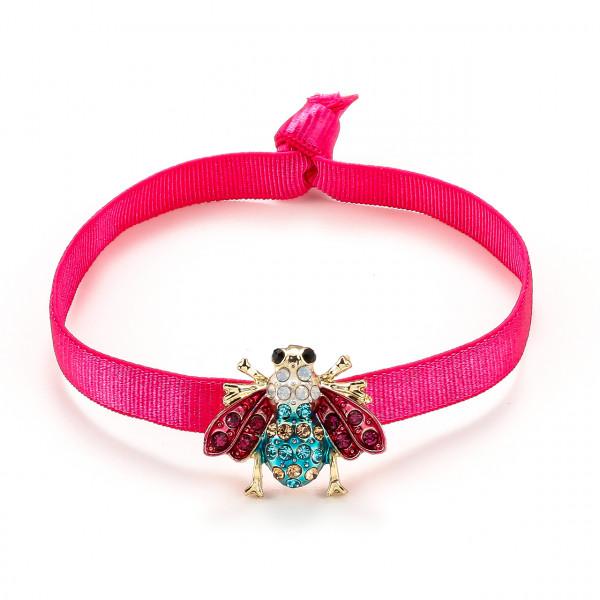 Elatischer Armband Pink Mit Biene