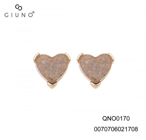 Ohrringe Herzförmig Braunton In Goldener Haftung