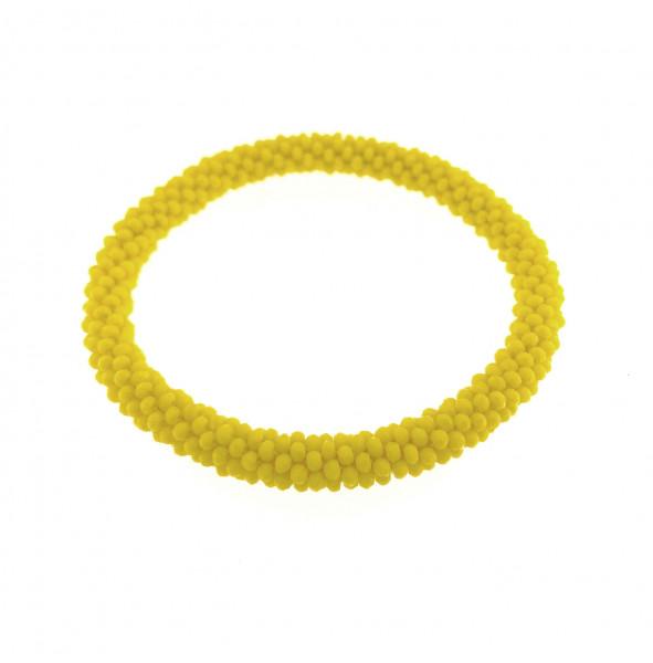 Fein Geflochtete Kristall Armband In Gelb