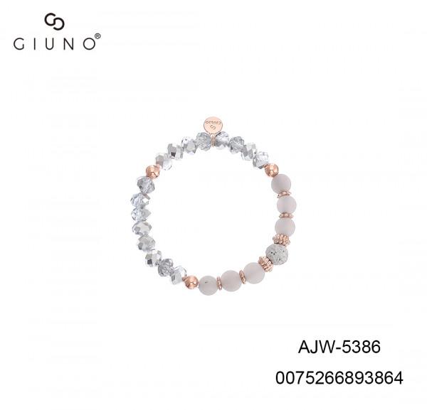 Kristallarmband In Grau/Rose