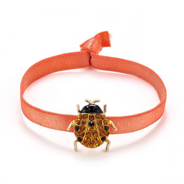 Elatischer Armband Orange Mit Käfer