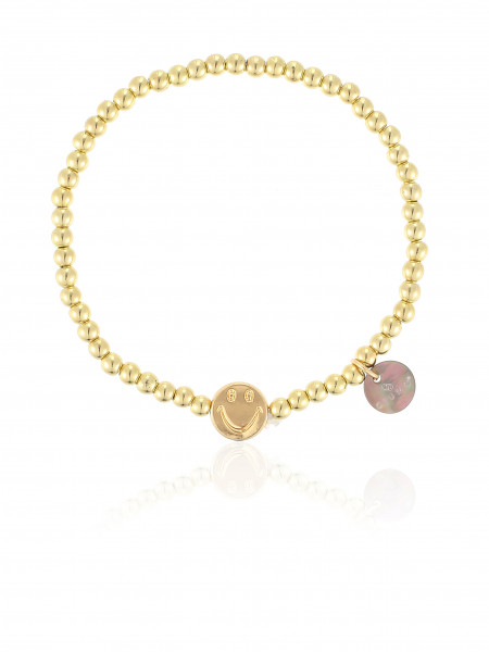 Perlenarmband Gold Mit Smiley