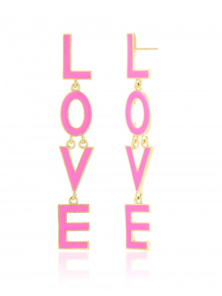 Hängeohrring Mit Love