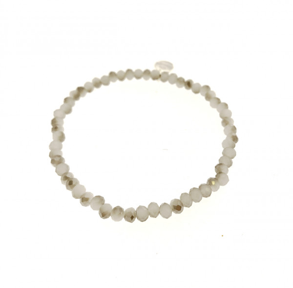 Armband Aus Glasperlen In Grau