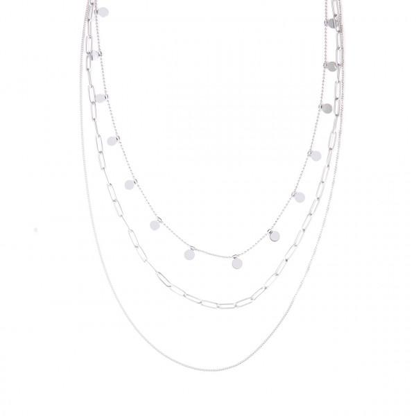 Edelstahl Dreier Kette In Silber